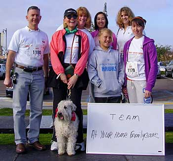 "Team ""At Your Home Familycare"" at the 2009 MS Walk"