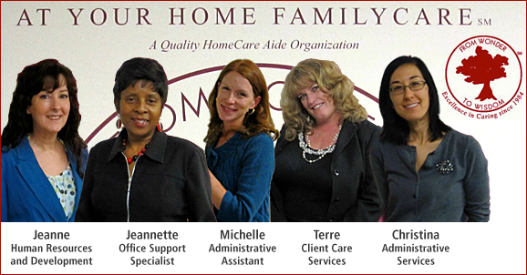 At Your Home Familycare, Home Care San Diego, Staff