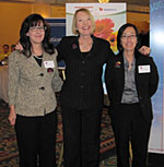 AYHF Staff Jeanne Bates and Christina Meade with AYHF President & Founder Laurie Edwards-Tate