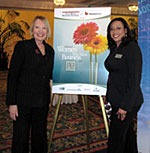AYHF President & Founder Laurie Edwards-Tate with fellow Award Nominee Jenee Peen, Board Member and Volunteer, American Cancer Society of San Diego