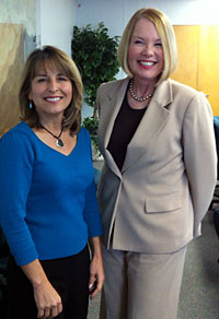 Laurie Edwards-Tate, President and Founder of At Your Home Familycare, with San Diego City Councilmember Lorie Zapf