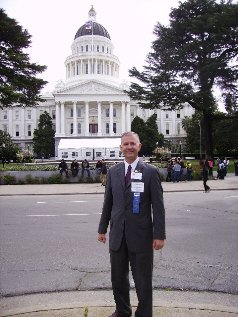Client Care Manager Steve Schweitzer at the State Capitol in Sacramento for Legislative Day 2011.