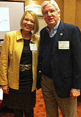 At Your Home Familycare's President and CEO, Laurie Edwards-Tate, with CAHSAH President, Joe Hafkenschiel.