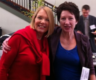 Laurie Edwards-Tate with CAHSAH Staffperson Extraordinaire Michele Lander at our Lobby Day Breakfast and presentation.