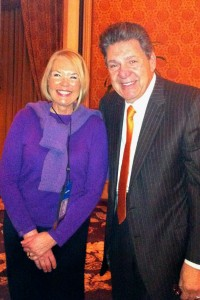 Laurie Edwards-Tate with Val J. Halmandaris, JD, President, NAHC