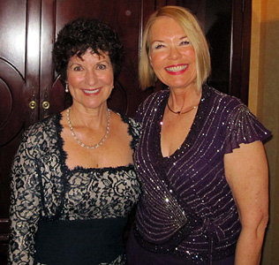 Laurie Edwards-Tate with Lorie Van Tilburg, SCRC Executive Director and Founder.