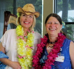 Laurie Edwards-Tate (left) with Sharon Frederich, RN, SDRHCC Legislative Chair (right).