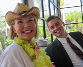 Laurie Edwards-Tate with Will Zasadny, Congressman Bilbray's Representative.