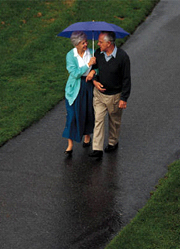 Seniors need to keep safety in mind when walking for exercise.