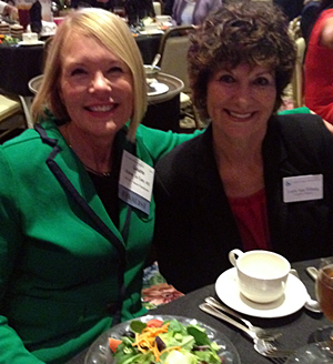 Left: Laurie Edwards-Tate, President AYHF; Right: Lorie Van Tilburg, Executive Director of Southern Caregiver Resource Center.