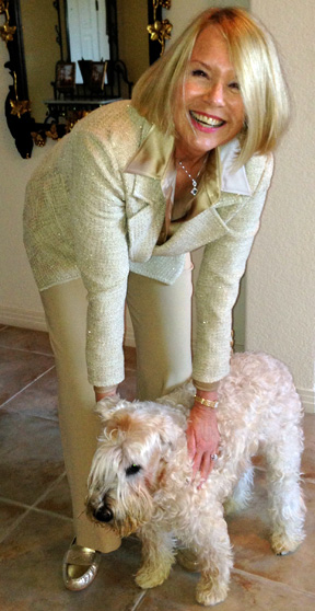 Laurie Edwards-Tate saying her Good-byes to O'connor (her Soft-Coated Wheaten Terrier and brave little cancer survivor)