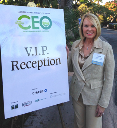 Laurie Edwards-Tate at the VIP Finalist Reception prior to the awards ceremony