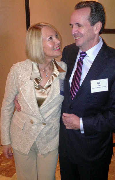 Laurie Edwards-Tate enjoying the event with her husband Bill Tate.