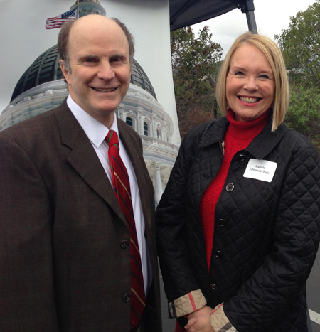 Left: Senator Mark Wyland; Right: Laurie Edwards-Tate