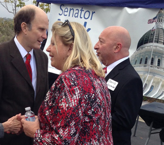 Left: Senator Mark Wyland; Right: Deputy District Director Donna Cleary