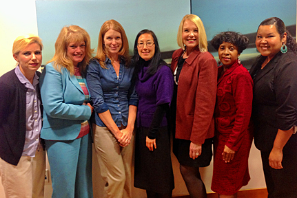 At Your Home Familycare's Caring Administrative Team: Andrea, Terre, Michelle, Christina, Laurie, Jeannette, and Delilah