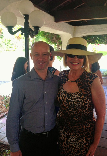 Laurie Edwards-Tate President and CEO of At Your Home Familycare pictured with Kurt Buske, SCRC Associate Director during Southern Caregiver's Resource Center 22nd Annual Bastille Day event.