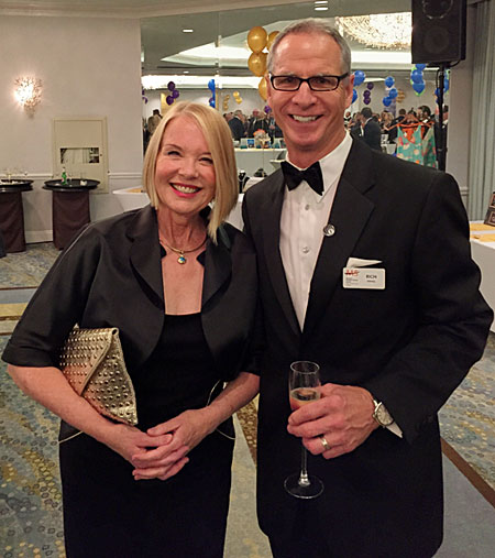 Laurie Edwards-Tate pictured with Rich Israel, CEO for the Pacific Coast Chapter of the National Multiple Sclerosis Society