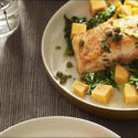 Springtime favorite: Seared salmon with sweet potatoes